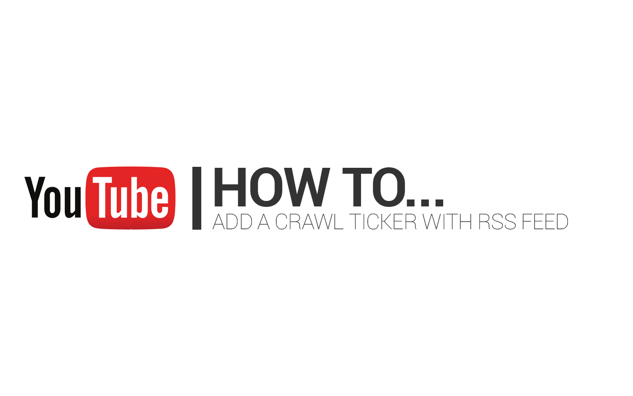 How to add crawl ticker rss feed