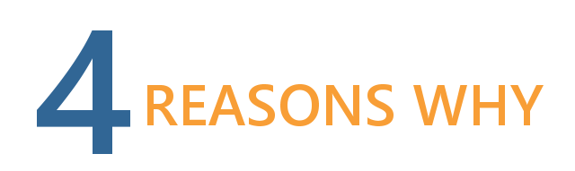 4 reasons why